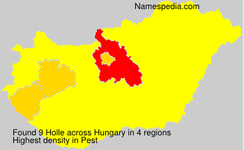 Surname Holle in Hungary