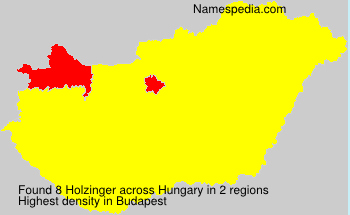 Surname Holzinger in Hungary