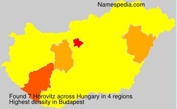 Familiennamen Horovitz - Hungary