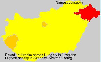 Familiennamen Hrenko - Hungary