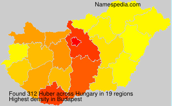 Surname Huber in Hungary