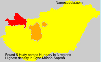 Surname Hudy in Hungary