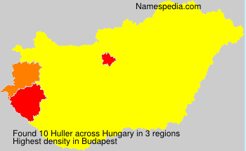 Surname Huller in Hungary