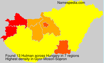 Surname Hulman in Hungary