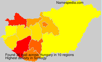 Surname Igali in Hungary