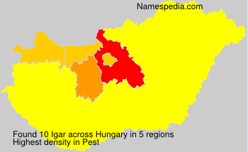 Surname Igar in Hungary