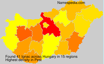 Surname Ignac in Hungary