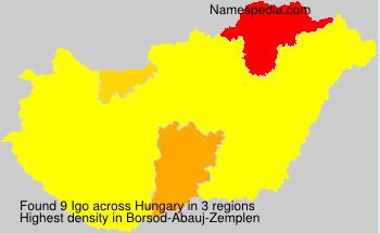 Surname Igo in Hungary