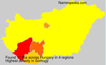 Surname Illia in Hungary