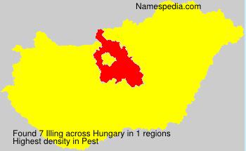 Familiennamen Illing - Hungary