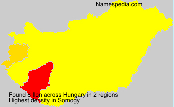 Surname Ilon in Hungary