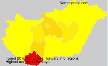 Familiennamen Imhof - Hungary