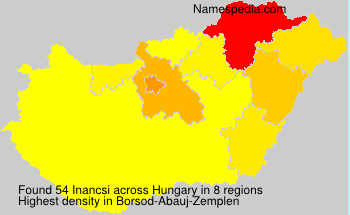 Familiennamen Inancsi - Hungary