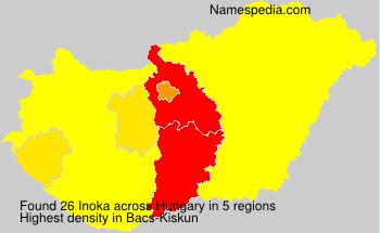 Familiennamen Inoka - Hungary