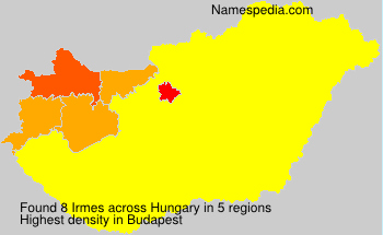 Surname Irmes in Hungary