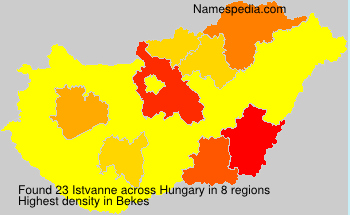 Surname Istvanne in Hungary