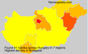 Surname Ivanka in Hungary