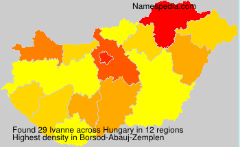 Surname Ivanne in Hungary