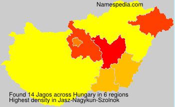 Surname Jagos in Hungary