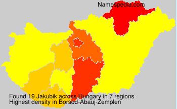 Surname Jakubik in Hungary