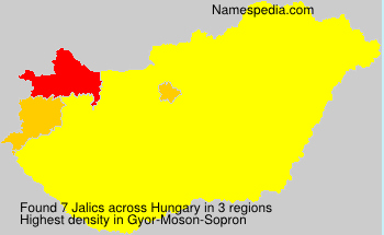 Surname Jalics in Hungary