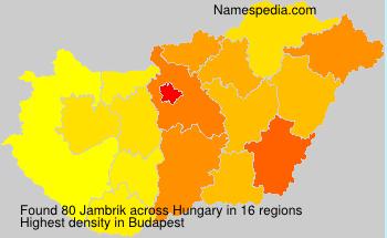 Surname Jambrik in Hungary