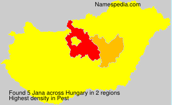 Surname Jana in Hungary