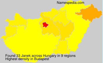 Familiennamen Janek - Hungary