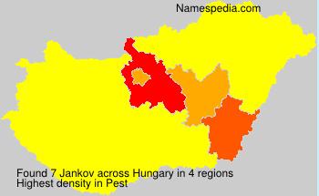 Familiennamen Jankov - Hungary