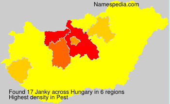 Surname Janky in Hungary