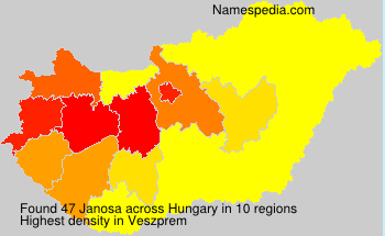 Surname Janosa in Hungary