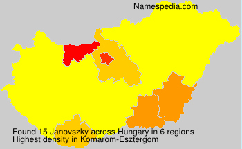 Surname Janovszky in Hungary