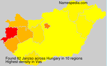 Surname Janzso in Hungary