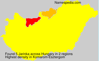 Surname Jarinka in Hungary