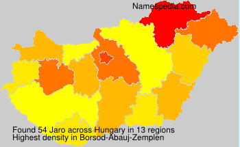 Familiennamen Jaro - Hungary