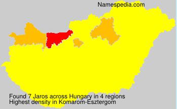 Surname Jaros in Hungary