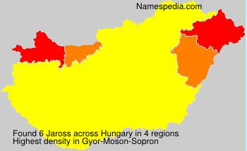 Familiennamen Jaross - Hungary