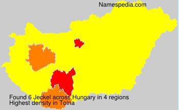 Surname Jeckel in Hungary