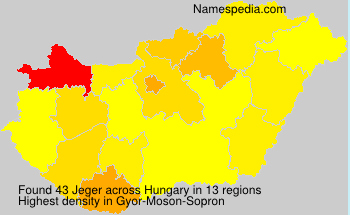 Surname Jeger in Hungary