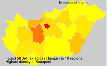 Surname Jelinek in Hungary