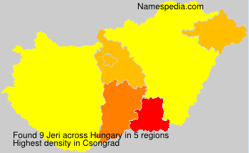 Surname Jeri in Hungary