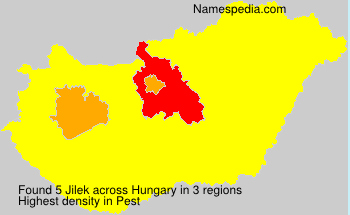 Surname Jilek in Hungary