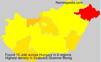 Surname Jobi in Hungary
