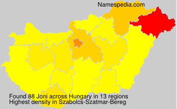 Surname Joni in Hungary