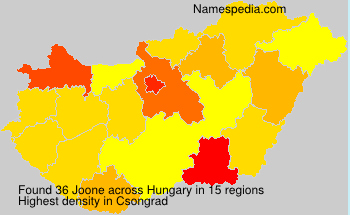 Surname Joone in Hungary