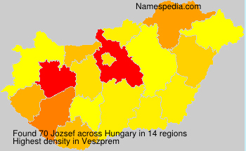 Surname Jozsef in Hungary