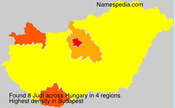 Surname Judt in Hungary