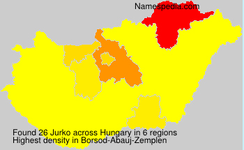 Surname Jurko in Hungary