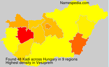 Familiennamen Kadi - Hungary