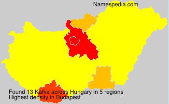 Surname Kafka in Hungary